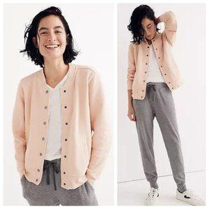 Madewell Blush Pink Bomber Sweatshirt